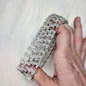 Jewelry - Rhinestone Statement Cuff Bracelet